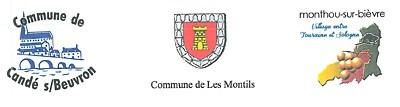 Communes de Candé-sur-Beuvron, Les Montils, Monthou-sur-Bièvre